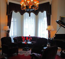 Front Room and Grand Piano of Historic Governor's Mansion by Lenny La Rue, IPA