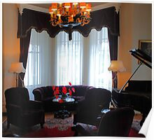 Front Room and Grand Piano of Historic Governor's Mansion Poster