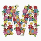 Spring Flowers Alphabet M Monogram T-shirt by fatfatin
