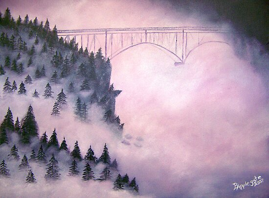 Deception Pass, Washington ~ Oil Painting by Barbara Applegate
