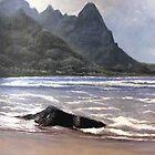 Tunnel's Beach, Kauai by Victor DeLor