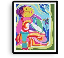 Budda sleeping Canvas Print