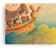 The Pirate Bunny Canvas Print