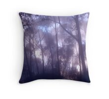 Mist and Eucalypts Trees Throw Pillow