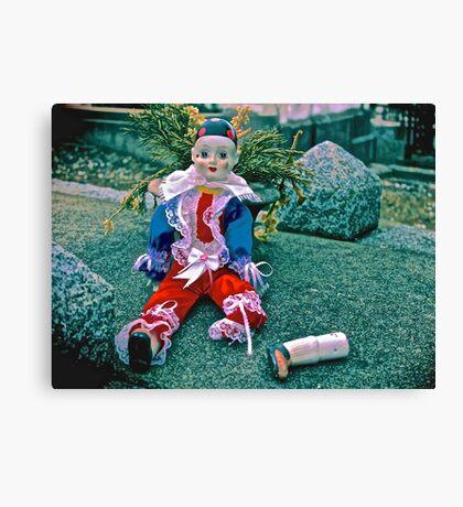 Sad Clown Loose Limbs Canvas Print