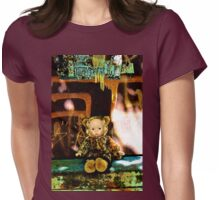 Back Alley Leopard Doll  Womens Fitted T-Shirt