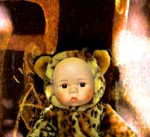 Back Alley Leopard Doll  Sticker