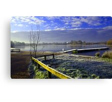 Frosty Morning at Dinton Pastures Canvas Print