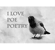 I Love Poe Poetry Photographic Print