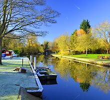 Winter at Hurley Lock by DTphotography Dave & Tatiana