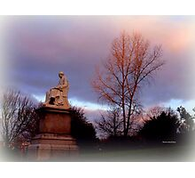 Statue at Dusk Photographic Print
