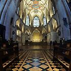 Tewkesbury Abbey Vertical Panorama by Yampimon