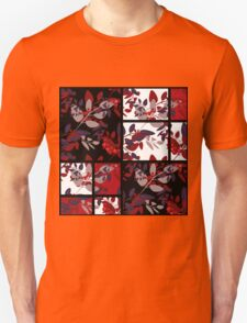 Patchwork retro autumn rowanberry pattern texture Unisex T-Shirt