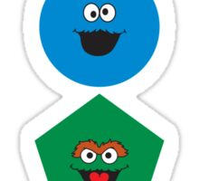 Sesame Street Primary Colors Basic Shapes Sticker