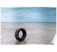Tyre on beach Poster