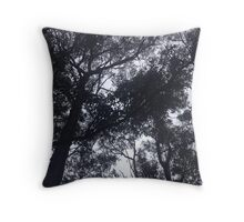 Scary Trees Throw Pillow