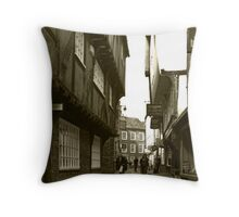 Shambles, York Throw Pillow