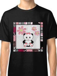 Cat kids animal illustration background Classic T-Shirt