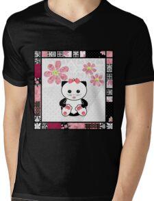 Cat kids animal illustration background Mens V-Neck T-Shirt