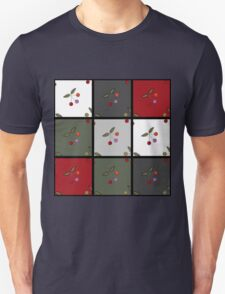 Patchwork seamless pattern texture background with cherries Unisex T-Shirt