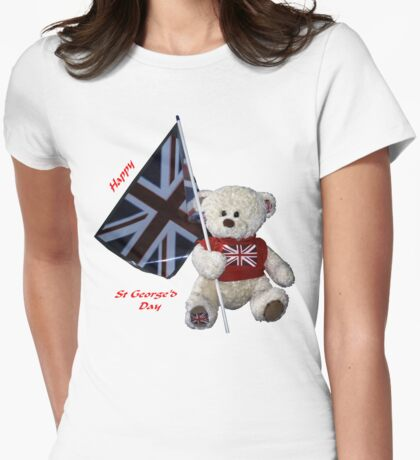 St George's Day Teddy Womens Fitted T-Shirt