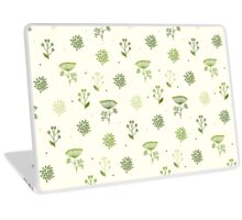 Elegance Seamless pattern with flowers, vector floral illustration in vintage style, Ukraine, dill Laptop Skin