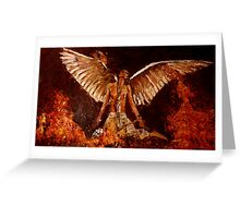 Phoenix bird from ashes Greeting Card