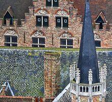 Bruges roofscape by Mortimer123