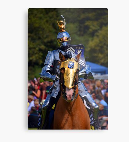 Knight in Armour Metal Print
