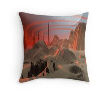 Sun low Throw Pillow