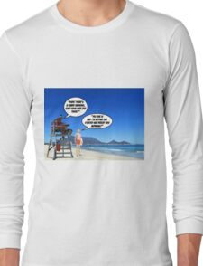 Shark Warning 2 Long Sleeve T-Shirt