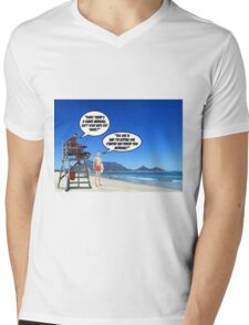 Shark Warning 2 Mens V-Neck T-Shirt