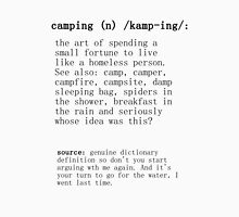 Camping - dictionary definition Unisex T-Shirt