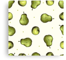 seamless pattern of fruit - apple and pear Canvas Print