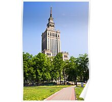 Palace of Culture and Science in Warsaw Poster
