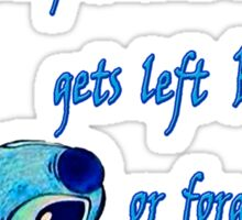 Lilo & Stitch - Ohana Family Quote (2) Sticker