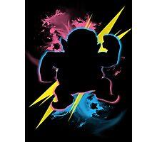Super Smash Bros. Wario (Biker) Silhouette Photographic Print