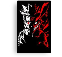 Naruto Shippuden 9 Tail Demon Fox Kyuubi Anime Cosplay T Shirt Canvas Print