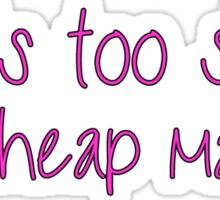 Life Is Too Short For Cheap Makeup - Pink Font Sticker