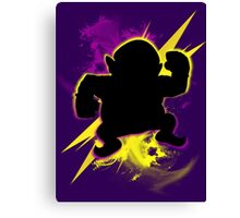 Super Smash Bros. Wario (Classic) Silhouette Canvas Print
