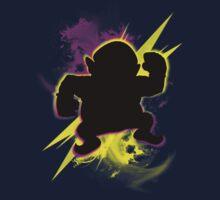 Super Smash Bros. Wario (Classic) Silhouette Kids Tee