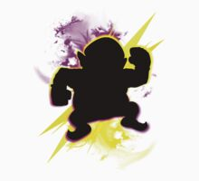 Super Smash Bros. Wario (Classic) Silhouette One Piece - Short Sleeve