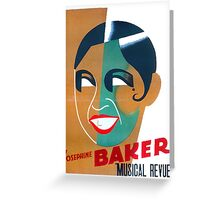Josephine Baker Vintage Poster for Stockholm Greeting Card