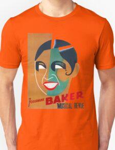 Josephine Baker Vintage Poster for Stockholm Unisex T-Shirt