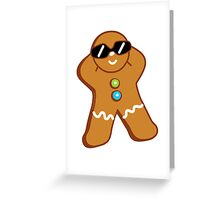 Tan Gingerbread Man Greeting Card