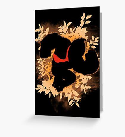 Super Smash Bros. Donkey Kong Silhouette Greeting Card