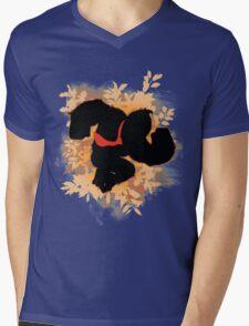 Super Smash Bros. Donkey Kong Silhouette Mens V-Neck T-Shirt