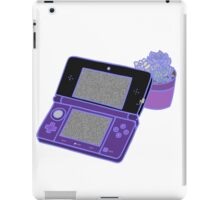 Nintendo DS and succulents - purple iPad Case/Skin