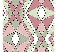 Seamless abstract pattern retro colors Photographic Print