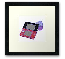 Nintendo DS and succulents - white Framed Print